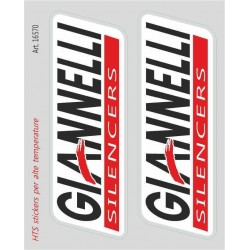 PAIR OF GIANNELLI STICKERS FOR HIGH TEMPERATURES