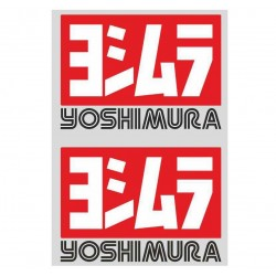 PAIR OF YOSHIMURA STICKERS FOR HIGH TEMPERATURES