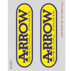 PAIR OF ARROW STICKERS FOR HIGH TEMPERATURES