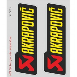 PAIR OF AKRAPOVIC STICKERS FOR HIGH TEMPERATURES