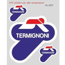 PAIR OF TERMIGNONI STICKERS FOR HIGH TEMPERATURES