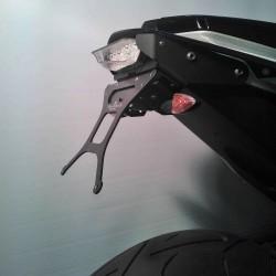 ADJUSTABLE ALUMINUM LICENSE PLATE SUPPORT FOR KTM DUKE 690 R 2012/2017