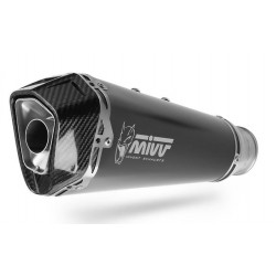 EXHAUST TERMINAL MIVV DELTA RACE BLACK CARBON BASE FOR KAWASAKI VERSYS 1000 2019/2020, APPROVED