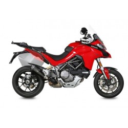 EXHAUST MIVV DELTA RACE BLACK WITH CARBON BASE FOR DUCATI MULTISTRADA 1260 2018/2020, APPROVED