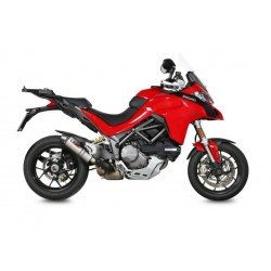 EXHAUST MIVV OVAL TITANIUM WITH CARBON BASE FOR DUCATI MULTISTRADA 1260 2018/2020, APPROVED