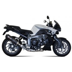 MIVV OVAL EXHAUST TERMINAL IN CARBON CARBON BASE FOR BMW K 1300 S 2009/2013, APPROVED