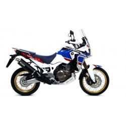 EXHAUST PIPE ARROW MAXI RACE-TECH ALUMINUM DARK FOR HONDA AFRICA TWIN 1000 2016/2019, APPROVED