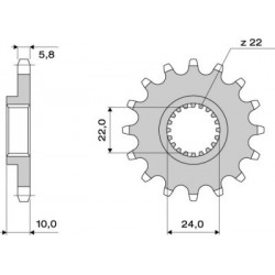 STEEL FRONT SPROCKET FOR CHAIN 520 FOR BMW F 650 GS 2000/2007, G 650 X COUNTRY/X MOTORCYCLE 2007/2010