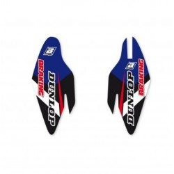 PAIR OF FORK PARAS> STICKERS BLACKBIRD FOR YAMAHA YZ 2015/2019