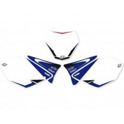 BLACKBIRD GRAPHICS NUMBER STICKERS KIT MOTOCROSS MODEL FOR YAMAHA YZ 125/250 2002/2014, WHITE