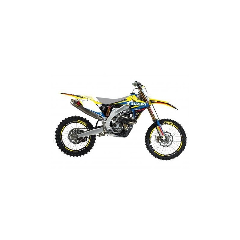 KIT ADESIVI + COPERTINA SELLA BLACKBIRD GRAFICA DREAM 4 PER SUZUKI RM-Z 450 2018/2019
