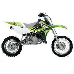 KIT ADESIVI + COPERTINA SELLA BLACKBIRD GRAFICA DREAM 4 PER KAWASAKI KX 65 2000/2018