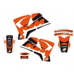 BLACKBIRD STICKERS KIT DREAM 4 GRAPHICS FOR KTM SX/SX-F 2001/2004 (NO MINICROSS), EXC 2003/2004