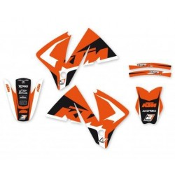 BLACKBIRD STICKERS KIT DREAM 4 GRAPHICS FOR KTM EXC / EXC-F 2001/2002