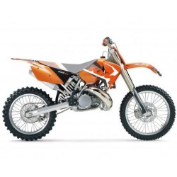 KIT ADESIVI + COPERTINA SELLA BLACKBIRD GRAFICA DREAM 4 PER KTM SX 2001/2004 (NO MINICROSS), EXC 2003/2004