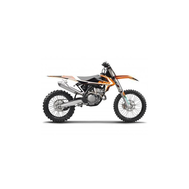 KIT ADESIVI + COPERTINA SELLA BLACKBIRD GRAFICA DREAM 4 PER KTM SX/SX-F 2016/2018 (NO MINICROSS E NO SX 250 2T)