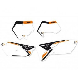 BLACKBIRD NUMBER STICKER KIT WITH MOTOCROSS MODEL FOR KTM SX 125/525 2004/2006, WHITE COLOR