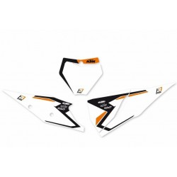 NUMBER-CARRYING STICKER KIT WITH GRAPHICS BLACKBIRD MOTOCROSS MODEL FOR KTM SX/SX-F 2019 (NO SX 250 2T), WHITE