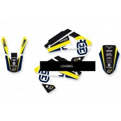 BLACKBIRD STICKERS KIT DREAM 4 GRAPHICS FOR HUSQVARNA CR/WR 125/250 2000/2005 (YELLOW COLOR)
