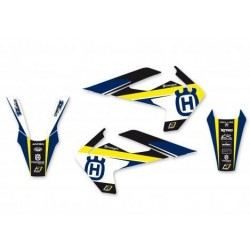 BLACKBIRD STICKERS KIT DREAM 4 GRAPHICS FOR HUSQVARNA TE / FE 2017/2019 (YELLOW COLOR)