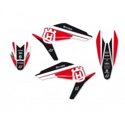 BLACKBIRD STICKERS KIT DREAM 4 GRAPHICS FOR HUSQVARNA TE / TC 449/511 2011/2013 (RED COLOR)