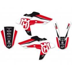 STICKER KIT BLACKBIRD DESIGN DREAM 4 FOR HUSQVARNA TE/TC 250/310 2008/2013, TE/TC 450/510 2008/2010 (RED COLOR)