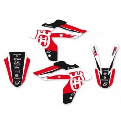BLACKBIRD STICKERS KIT DREAM 4 GRAPHICS FOR HUSQVARNA WR 250 2006/2013, WR 300 2009/2013 (RED COLOR)