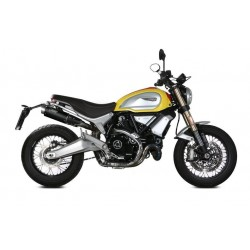 PAIR OF EXHAUST MIVV GP PRO BLACK FOR DUCATI SCRAMBLER 1100 SPORT 2018/2019, APPROVED