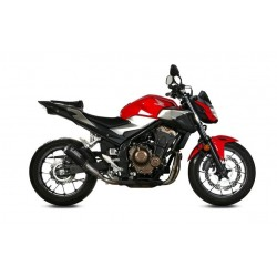 EXHAUST TERMINAL MIVV MK3 IN CARBON FOR HONDA CB 500 F 2019/2020, NOT APPROVED