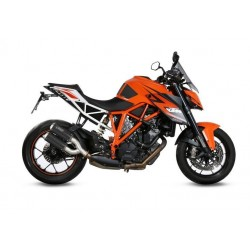 PAIR OF EXHAUST SYSTEMS MIVV MK3 IN CARBON FOR KTM 1290 SUPER DUKE R 2014/2019, APPROVED