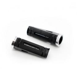 PAIR OF BARRACUDA PASSENGER PEGS FOR ORIGINAL SUZUKI GSX-R 1000 2009/2020, BLACK COLOR