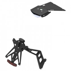 ADJUSTABLE LIGHTECH LICENSE PLATE SUPPORT FOR BMW R NINE T URBAN GS 2017/2020