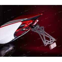 ADJUSTABLE ALUMINUM LICENSE PLATE HOLDER FOR DUCATI 1199 PANIGALE 2012/2014