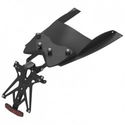 ADJUSTABLE ALUMINUM LICENSE PLATE HOLDER WITH UNDER COVER FOR YAMAHA T-MAX 500 2008/2011