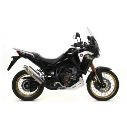 ARROW MAXI RACE-TECH ALUMINUM DARK EXHAUST PIPE FOR HONDA AFRICA TWIN 1100 L 2020, APPROVED