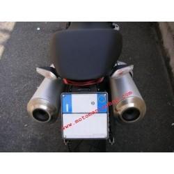 ADJUSTABLE ALUMINUM LICENSE PLATE SUPPORT FOR DUCATI MONSTER 1100/S 2009/2010