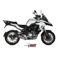 EXHAUST MIVV OVAL TITANIUM WITH CARBON CUP FOR BENELLI TRK 502 2018/2020, APPROVED