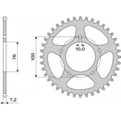 STEEL REAR SPROCKET FOR CHAIN 525 FOR BENELLI TRK 502 2018/2020