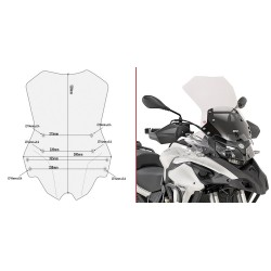 GIVI CUPOLINO FOR BENELLI TRK 502 X 2018/2020, TRANSPARENT