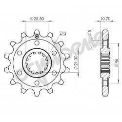 STEEL FRONT SPROCKET FOR ORIGINAL CHAIN 525 FOR BENELLI LEONCINO 2018/2020