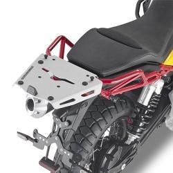 REAR ATTACHMENT GIVI SRA8203 IN ALUMINUM FOR FIXING THE MONOKEY CASE FOR MOTO GUZZI V85 TT 2019/2020