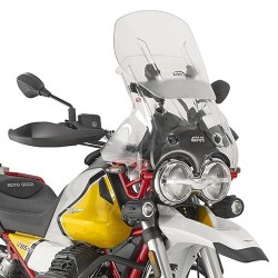 PARABREZZA SCORREVOLE GIVI PER MOTO GUZZI V85 TT 2019/2020, TRASPARENTE