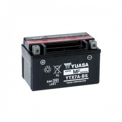YUASA YTX7A-BS BATTERY WITHOUT MAINTENANCE WITH ACID SUPPLIED FOR BENELLI BN 125 2018/2020
