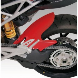BARRACUDA REAR FENDER WITH CHAIN GUARD FOR DUCATI HYPERMOTARD 1100, HYPERMOTARD 796, MATT BLACK COLOR (to be painted)