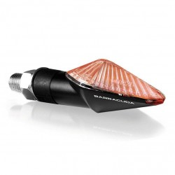 PAIR OF BARRACUDA MINI VIPER APPROVED TURN SIGNALS APPROVED, COLOR CARBON LOOK LONG LEG