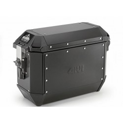 PAIR OF GIVI TREKKER ALASKA MONOKEY SIDE CASES 36 CAPACITY 46 LITERS, IN BLACK ALUMINUM