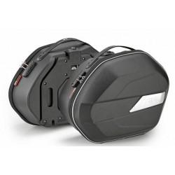 PAIR SEMI-RIGID SIDE BAGS GIVI WL900 WEIGHTLESS CAPACITY 25 LITERS