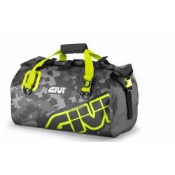 GIVI WATERPROOF SEAT BAG EA115CM CAPACITY 40 LITERS, CAMOUFLAGE GRAY/YELLOW