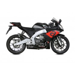 MIVV DELTA RACE BLACK EXHAUST TERMINAL WITH CARBON BASE FOR APRILIA RS 125 2017/2020, APPROVED