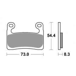 SINTERED FRONT PADS SET SBS 960 HS FOR BMW R 1250 RT 2019/2020